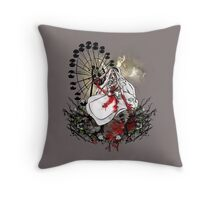 Hysteria in Rust Throw Pillow