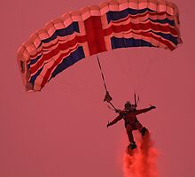 UK RAF Red Devils Parachute Display Team by zandosfactry
