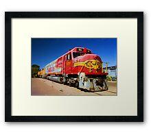 Santa Fe Train as pseudo oil painting Framed Print