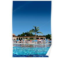 Relaxing in Cayo Coco, Cuba Poster