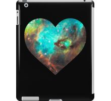 Green Galaxy Heart iPad Case/Skin