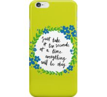 Ten Seconds iPhone Case/Skin