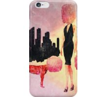 Surreal life cotton candy glam woman and her dogs iPhone Case/Skin