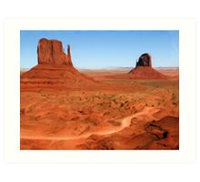 The Mittens, Utah, USA as pseudo oil painting Art Print