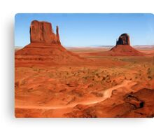 The Mittens, Utah, USA as pseudo oil painting Canvas Print