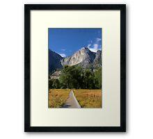 Yosemite Falls, California as pseudo oil painting Framed Print