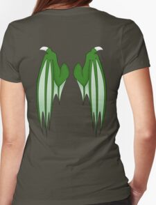 Dragon wings - green Womens Fitted T-Shirt