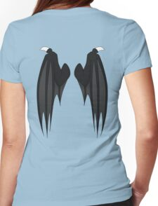 Dragon wings - black Womens Fitted T-Shirt