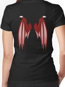 Dragon wings - red Women's Fitted V-Neck T-Shirt