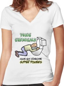Chemotherapy Women's Fitted V-Neck T-Shirt