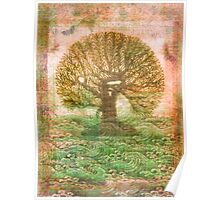 Tree of Life - green sea - earth colours Poster