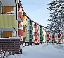 Colorful balconies by Paola Svensson