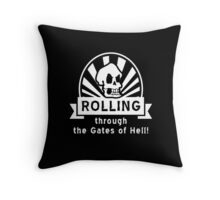 ROLLING through the Gates of Hell! (Murray - Monkey Island) Throw Pillow