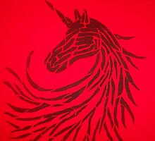 The unicorn of shadows by klaustrike2