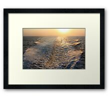 "Sailing into (or is it ""out of""?) the Sunset  Framed Print"