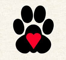 Heart paw - red Hoodie