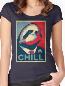 Vote Sloth Women's Fitted Scoop T-Shirt