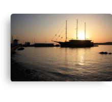 Mediterranean Sunset Canvas Print