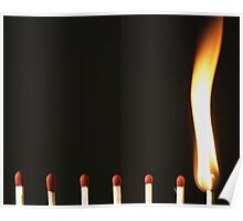 flame from a match Poster