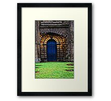 Gated Door Framed Print