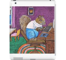 Squirrels on Computers iPad Case/Skin