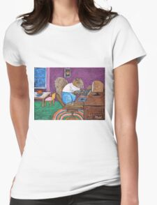 Squirrels on Computers Womens Fitted T-Shirt