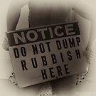 No Dumping by WalkingFish