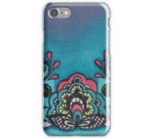 Hand painted silk print.  Lace tattoo design iPhone Case/Skin