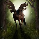 Pegasus in Woodland by Laura Redmond