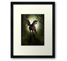 Pegasus in Woodland Framed Print