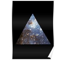 Blue Galaxy Triangle Poster