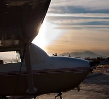 Cessna in the sun by Chris Heising
