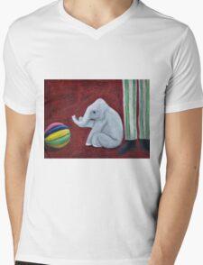 Elephants at Play Mens V-Neck T-Shirt