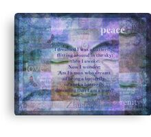 Buddha Dream and Wonder Quote Canvas Print