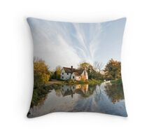 Willy Lott's Cottage Throw Pillow