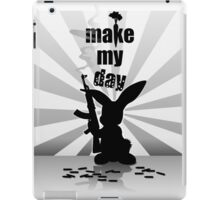 Weaponed Up Bunny - Make My Day by Chillee Wilson iPad Case/Skin