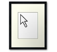 Computer mouse Windows POINTER Framed Print