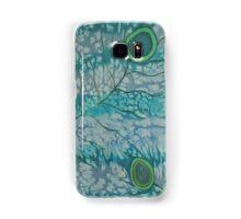 Hand painted silk print.  Peacock feather design. Samsung Galaxy Case/Skin