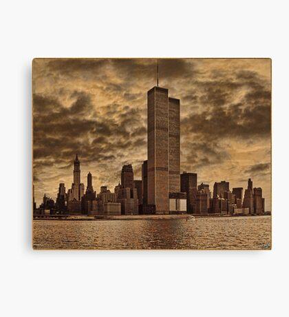 Downtown Manhattan, USA & WTC Towers, Circa 1979 Canvas Print