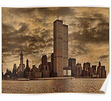 Downtown Manhattan, USA & WTC Towers, Circa 1979 Poster