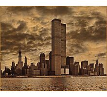 Downtown Manhattan, USA & WTC Towers, Circa 1979 Photographic Print