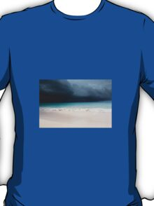 Beach in stormy sky T-Shirt