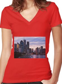 A Point of View Women's Fitted V-Neck T-Shirt