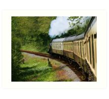 Steam Train as pseudo painting Art Print