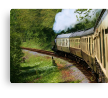 Steam Train as pseudo painting Canvas Print