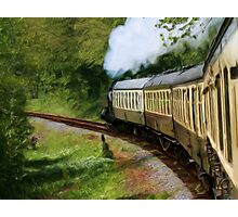 Steam Train as pseudo painting Photographic Print