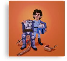 Father's Day - Jango and Boba Canvas Print