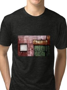 Old building facade, Richmond Tri-blend T-Shirt