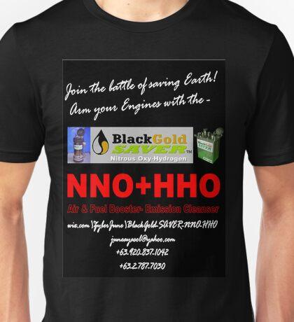 BlackGold SAVER Nitrous Oxyhydrogen (NNO+HHO) Unisex T-Shirt