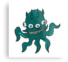 Mutant Squid Metal Print